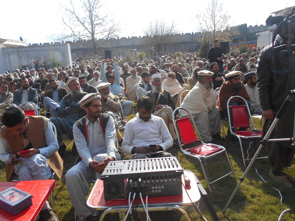 A view of a public gathering arranged by FATA Grand Alliance at Bajaur Agency. Photo by Nabi Jan Orakzai