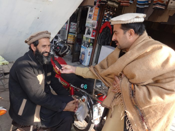 A shopkeeper from Khyber Agency speaking to TNN correspondent Gohar Wazir about FATA reforms at Karkhanu market Peshawar.