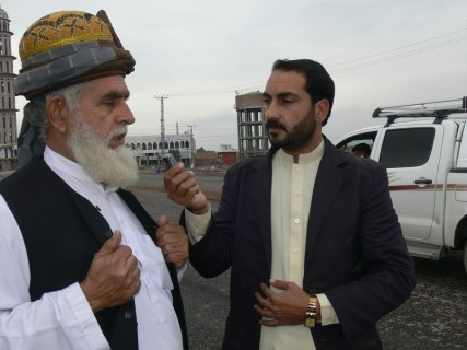 A trader from Bara bazaar speaking to TNN correspondent Saleem Rehman.