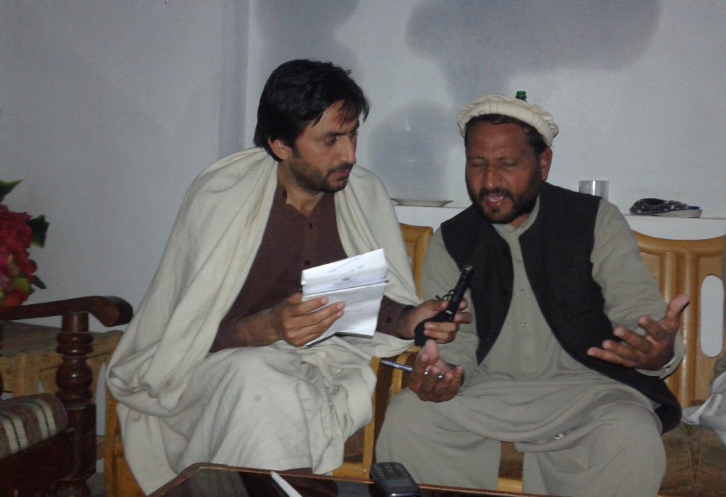Asif Khan is Interviewing Dr.abad about basic health facilities in Mardan.