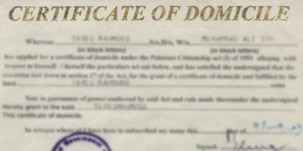 Provision Of Domicile Certificates To Students At School Level