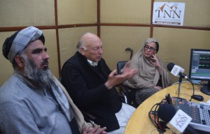 Adct Latif yousafzai, Mufti Shakoor of jui and Aisha mohmand during TNN Badloon Program regarding courts extension to FATA