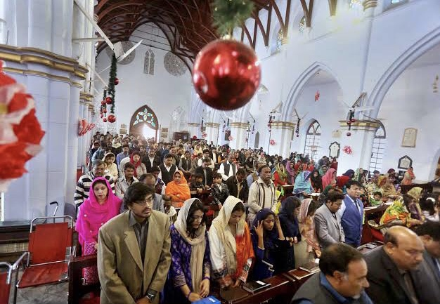 The Christmas prayers are being held in Peshawar.