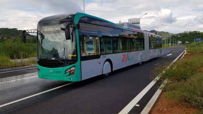 Peshawar BRT prototype bus.