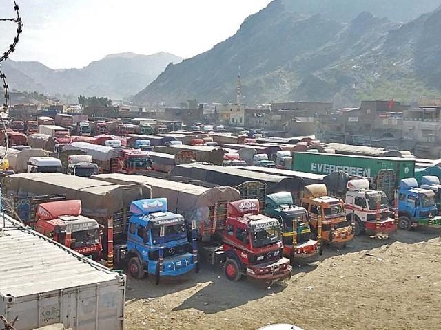 Protesting new regulations: Customs agents strike halts trade at Torkham