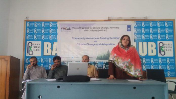 Seminar on climate change in bara press club
