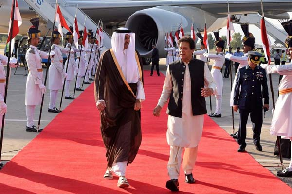 Emir of Qater arrives in Pakistan on two day state visit