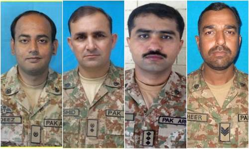 Four officails of pak army martyred in blast