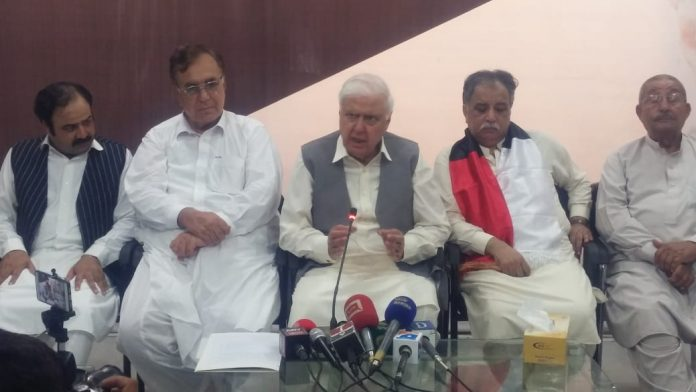 """ANP opposes deployment of army inside polling stations PESHAWAR: The Qaumi Watan Party (QWP) Chief Aftab Ahmad Khan has demanded the election commission of Pakistan not to deploy Pakistan army personnel and election should be held under the Khyber Pakhtunkhwa police. He was addressing a press conference at his residence on Saturday. """"The election under the army will be controversial. The ECP should conduct the election n under the force,"""" said the QWP leader. He said the Rahbar Committee of the united opposition has also demanded the ECP to conduct the election under the police instead of Army. Aftab said that opposition is united today that is a positive sign for democracy in the country. The united opposition wants free and fair elections throughout the country as, he claimed, the last year election has already been made controversial and besides PTI every other party is complaining of foul-play. He made it clear that the united opposition will ensure free and fair election in tribal districts, where the first ever election for the provincial government has been schedule for July 20. The QWP chief has also alleged that PM Khan has been 'selected' and there is no harm is describing him a selected Prime Minister. ` He accused that government of taking loans from the International monitory fund (IMF) and put the poor masses under new burden of inflation and 'illogical' taxes. """"The PTI has put the country stability in danger,"""" alleged the QWP party leader. The senior politician told the government that there should be accountability but only the opposition parties shouldn't be targeted for political gains. He accused KP government of corruption in BRT construction and asked the National accountability to probe it and punish all those responsible for it. He said that the united opposition has taken the unanimous decision to remove the senate chairman, Sadiq Sanjrani through a resolution which will be presented in the senate on July 11. The opposition will also unveil t"""