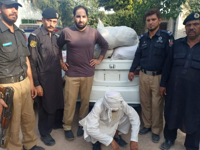 KP Excise dept recovers 80 kg hashish