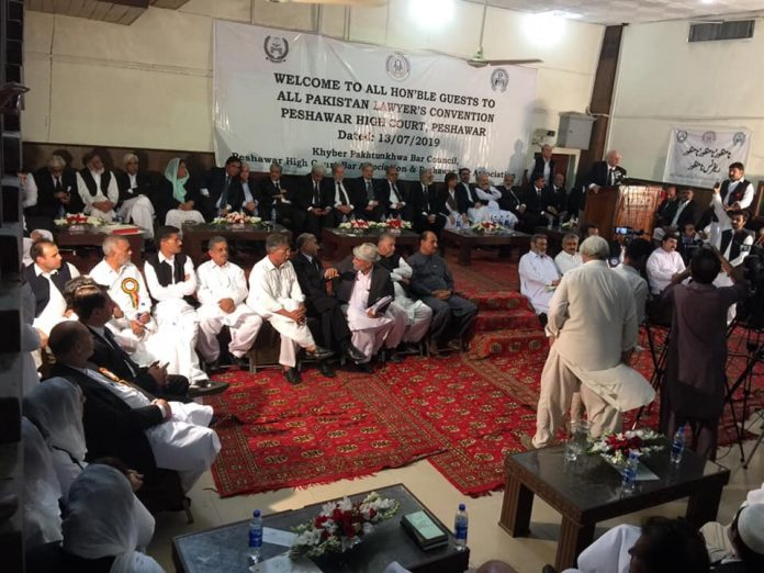 The all Pakistan lawyer convention demanded the government to withdraw references filed against the Supreme Court judge Justice Faez Isa
