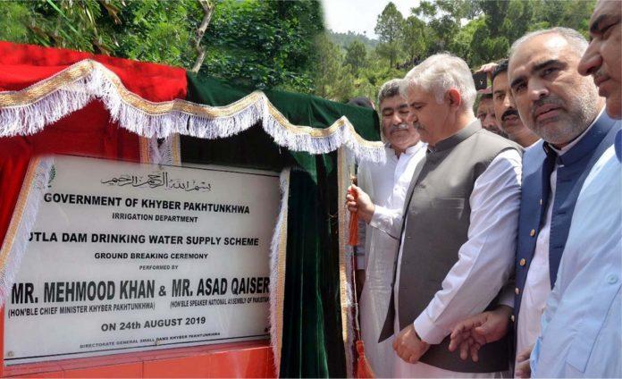 Chief Minister, Speaker NA inaugurates work on Utla Dam in Swabi
