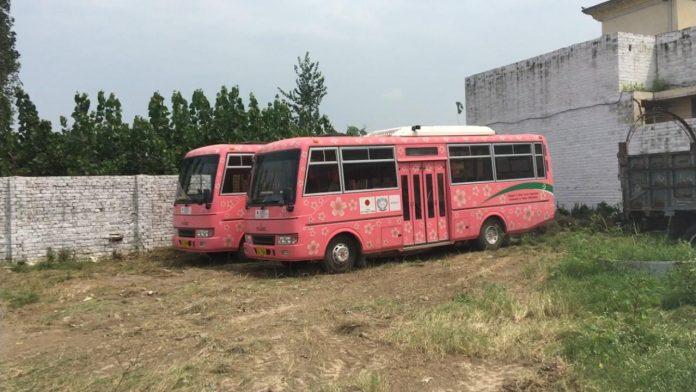 Women-only buses gathering dust in Mardan
