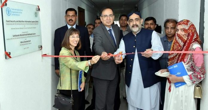 Govt inaugurates first food Security and Nutrition Information System lab