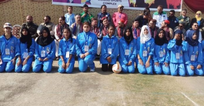 For first time in tribal history, female players participate in national games
