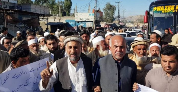 Local politicians, activists protest removal of 800 Khasadars in Mohmand