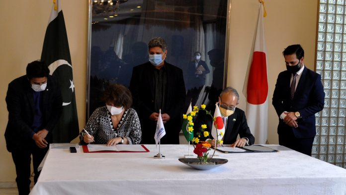 Mr. MATSUDA kuninori, the Ambassador of Japan to Pakistan, and Ms. Noriko Yoshida, UNHCR Representative, today signed and exchanged documents of Government of Japan's contribution of US$ 3.7 million to support UNHCR's programmes and activities for Afghan refugees and host communities in Pakistan